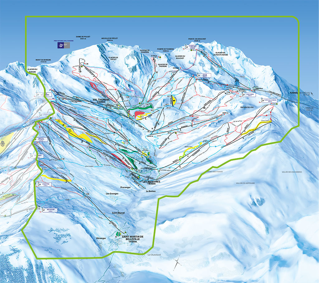 Internet setam val thorens domaines plan vall e des for Plan de belle villa